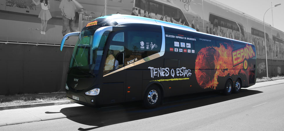 Autocar selección española de baloncesto